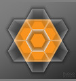 logo design based on hexagons vector image vector image
