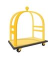 Luggage trolley cartoon icon vector image vector image