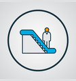 man on escalator icon colored line symbol premium vector image vector image