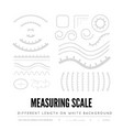 measuring rulers different scale length and vector image