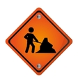 men at work traffic sign icon vector image vector image