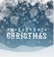 Merry Christmas Abstract Background Blue vector image vector image