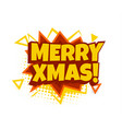 merry xmas 2020 comics cloud style isolated vector image vector image