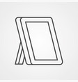 mirror icon sign symbol vector image