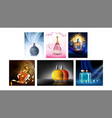 perfume product promotional posters set vector image vector image