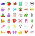 preschool icons set cartoon style vector image vector image