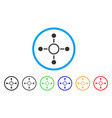 radial structure rounded icon vector image vector image