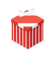 red closed gift box isometric 3d icon vector image vector image