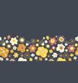scandinavian flowers seamless border vector image vector image