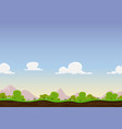 seamless spring landscape vector image vector image