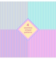 Seamless striped background set vector image vector image