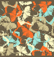 seamless texture of leaves on brown background vector image