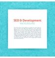 SEO Development Paper Template vector image vector image
