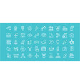 set flat line icons smart city vector image