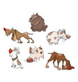 set of cute dogs for you design cartoon character vector image