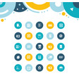 set simple icons computer upgrading vector image