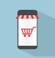 smartphone shop online concept vector image