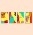 social media stories and post creative art vector image