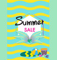 summer sale banner template with summer acc vector image vector image