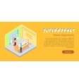 Supermarket Cheese Department Web Banner vector image vector image