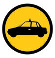 symbol taxi side car icon vector image vector image