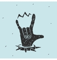 The Hand Symbol Heavy Metal vector image vector image