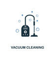 vacuum cleaning icon creative two colors design vector image vector image