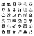 Wedding elements solid icon