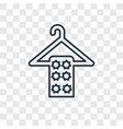 wiping towel on a hanger concept linear icon vector image