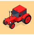 Red Tractor Isometric View vector image