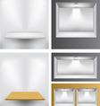 3d empty shelves vector image