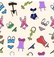 underwear swimwear cartoon bright beach vector image