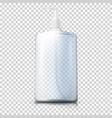 3d realistic transparent plastic bottle vector image vector image