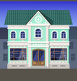 an antique bookstore in the old part of town vector image vector image