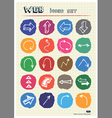 Arrows web icons set drawn by chalk vector image
