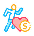 athlete health for money icon outline vector image vector image