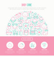 baby care concept in half circle vector image vector image