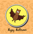 bat on halloween background happy halloween vector image vector image