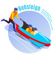 bobsleigh round background vector image vector image