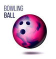 bowling ball isolated realistic vector image vector image