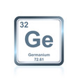 chemical element germanium from the periodic table vector image vector image