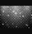 christmas snow snowfall falling snowflakes on vector image vector image