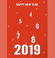 cover design for happy new year 2019 vector image vector image