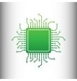 CPU Microprocessor Green gradient icon vector image vector image