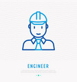 engineer in construction helmet vector image