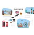 flat london concept vector image