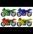 Four superbikes vector image