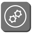 Gears Rounded Square Icon vector image