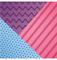 geometric line dots zig zag decoration pattern vector image