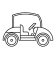Golf car icon outline style vector image vector image
